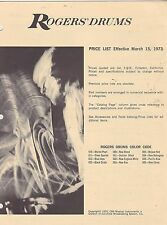 #MISC-0271 - MARCH 15 1973 ROGERS DRUM MUSICAL INSTRUMENT CATALOG PRICE LIST