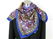 New Authentic HERMES Chasse En Inde Silk 90cm Shawl Scarf 35""