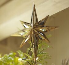 POTTERY BARN MIRRORED STAR CHRISTMAS TREE TOPPER Vintage Style