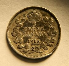Canada - George V - 5 Cents - 1918 - KM-22 - FREE SHIPPING
