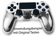 Neu Playstation PS4 Controller Case Hülle Gehäuse Chrome Modding Cover Chrom