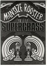 "11/2/95PGN20 SINGLE ADVERT 7X5"" SUPERGRASS : MANSIZE ROOSTER"