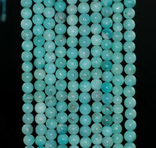 4MM  AQUA BERRY AMAZONITE GEMSTONE GRADE A GREEN ROUND LOOSE BEADS 15.5""