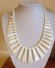 Retro/Vintage Look/Shell/Mother Of Pearl ?/Graduated/Bib/Necklace/Statement