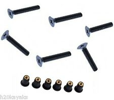 BLACK M5 A4 Stainless Steel Machine Screws with well nuts (X)