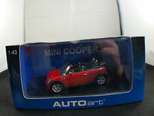 Auto Art 54849 Mini Cooper S Cabriolet 1/43 neuf en boîte/ Boxed mint in box