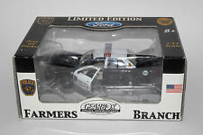 GEARBOX POLICE VEHICLES, FARMERS BRANCH POLICE DEPT. FORD CROWN VIC, 1:43, NIB