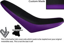 BLACK & PURPLE CUSTOM FITS MZ 125 SM LEATHER DUAL SEAT COVER ONLY