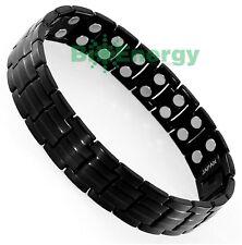 Magnet Magnetic TITANIUM Steel Energy Power Bracelet Health Bio Men's Black Matt