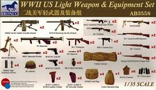 Bronco Models - AB 3558 WWII US Light Weapon & Equipment Set - 1:35