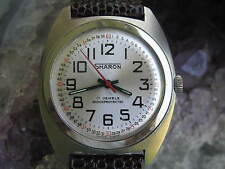 Sharon Vintage Stainless Steel Railroad Style Wrist Watch