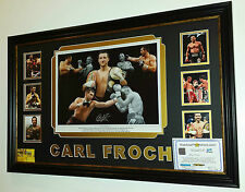 *** NEW Carl Froch SIGNED Photo Picture Autograph  Display **