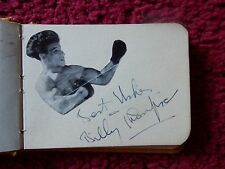 BRITISH LIGHTWEIGHT CHAMPION BOXER BILLY THOMPSON RARE AUTOGRAPH
