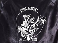"Silver Spurs Rodeo Jacket  Yuma AZ Jaycees Advisor  ""Larry"" Satin Lined Size L"