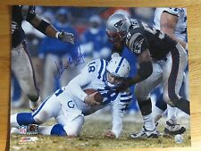 WILLIE McGINEST signed 2003 PLAYOFF Game vs PEYTON MANNING (Colts) 16x20 Photo