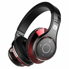 Bluedio UFO Bluetooth 4.1, 8 Tracks Virtual 3D Sound Headphone - Red/Black