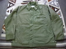 VTG USN US Navy A-2 Cold Weather Permeable Deck Jacket Lrg 42/44 Motorcycle (H85