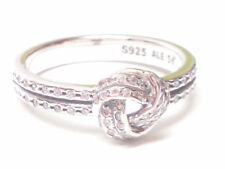 New Authentic Pandora Sterling Silver Sparkling Love Knot CZ Ring 190997CZ