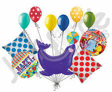 11pc Circus Animal Seal Happy Birthday Balloon Bouquet Decoration Carnival Party