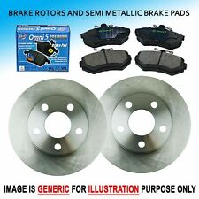 FK0180 Fit 02-05 Mini Cooper 1.6L FRONT Left + Right Brake Rotors & Pads Set