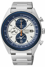 NEW SEIKO SNDF87P1,Men's CHRONOGRAPH,STAINLESS STEEL CASE,100M WR,SNDF87