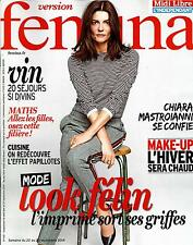 VERSION FEMINA N°651 22 SEPTEMBRE 2014 MASTROIANNI/ LOOK FELIN/ VIGNOBLES/ MATHS