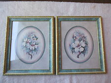 """Vintage Set Of 2 Home Interior Hummingbird Pictures """" BEAUTIFUL COLLECTIBLE SET"""