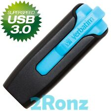 Verbatim V3 32GB 32G USB 3.0 Flash Pen Drive Disk Memory Thumb Stick Slide Blue