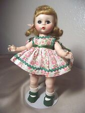 MADAME ALEXANDER~SLW Darling Blonde In Pink and Green party dress!