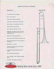 VINTAGE AD SHEET #2521 - 1970s BUESCHER MUSICAL INSTRUMENT - ARISTOCRAT TROMBONE