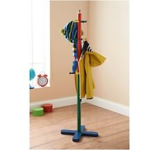 Kids Wooden Coat Stand Hanger 12 hooks Pencil Style Children Furniture Solid New