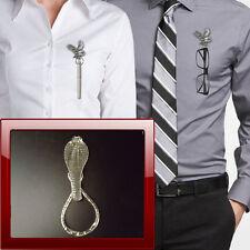 Cobra zsp Pewter Pin Brooch Drop Hoop Holder For Glasses,Pen