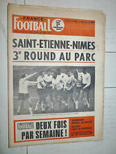 FRANCE FOOTBALL 1252 31/03 1970 COUPE NIMES ASSE ARTELESA RUBEN BRAVO EUROPE 1/2