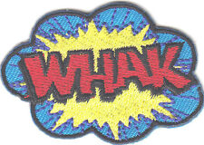 """WHAK""-BATMAN-JUSTICE LEAGUE PATCH-DC COMICS- Iron On  Patch/TV, Movie,Cartoons,"