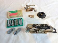 Singer Sewing Machine ATTACHMENT LOT For Parts or Repair Zig Zag Templates