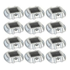 12 Pack Solar LED Pathway Driveway  Lights Dock Path Step Road Safety Markers