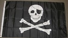 3X5 PIRATE FLAG JOLLY ROGER SKULL CROSSBONES SIGN F162