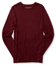 AERO Men's Long Sleeve Marled Crew-Neck Tee Aeropostale Long Sleeve M