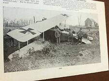 m8-2 ephemera 1938 ww1 picture german d f w aeroplane crash flesquieres 1917