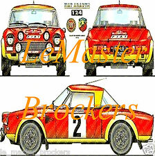 FIAT 124 ABARTH Monte-Carlo Poster voiture rally auto yougtimer vintage