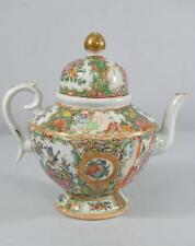 ANTIQUE CHINESE ROSE MEDALLION TEAPOT 19TH CENTURY