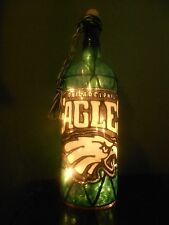 Philadelphia Eagles Inspired Wine Bottle Lamp Hand Painted Lighted