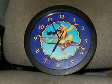 "11"" BATTERY POWERED DISNEY'S ALADDIN & JASMINE RIDING MAGIC CARPET WALL CLOCK"