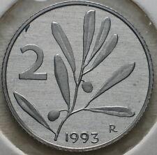 1993   Repubblica Italiana   2  lire  FONDO SPECCHIO  da divisionale