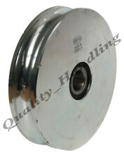 sliding gate wheel pulley 140mm Round groove steel  Double ball bearings 2BB