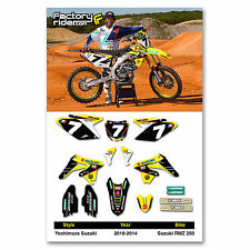 2010 - 2016  SUZUKI RMZ 250 YOSHIMURA Dirt Bike Graphics kit Motocross Decals