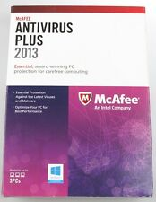 McAFEE Antivirus Plus 2013 Essential Protection 3PCs against Viruses,spyware NEW