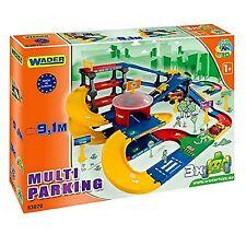 Wader Parkgarage mit Spielstraße Autogarage Parkhaus Garage Spielzeugauto Kinder