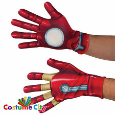 Adults Official Marvel Avengers Iron Man Gloves Fancy Dress Costume Accessory