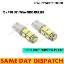 2 X 501 9 SMD LED NUMBER PLATE SIDELIGHT INTERIOR BULBS WHITE XENON T10 W5W